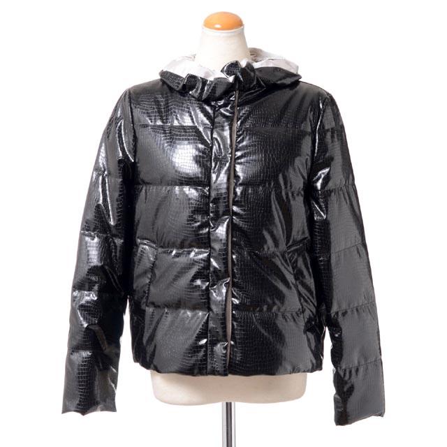 エンポリオアルマーニ (EMPORIO ARMANI) スタンプクロコジャケットコート 中綿 ブラック1nb1st1m733999 2018AW レディース秋冬新作 送料無料 正規取扱