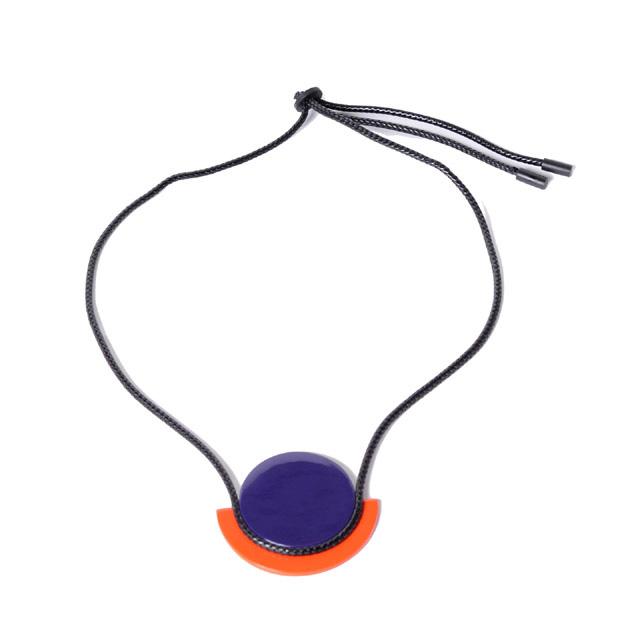 ランドシヌール (L'Indochineur) アストレネックレス 水牛角 オレンジパープルbjx593ov 2019SS レディース春夏新作 3,980円以上購入で送料無料 正規取扱
