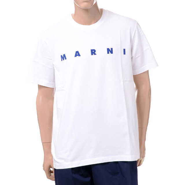 マルニ (Marni) ブランドロゴTシャツ コットン ストーンホワイトhumu0143p022763w01 2020SS メンズ春夏新作 送料無料 正規取扱
