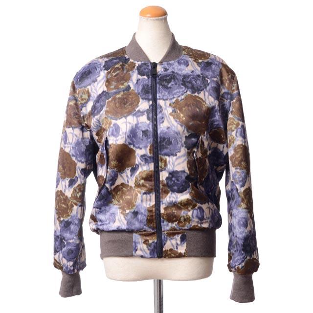 エリカ カヴァリーニ セミクチュール (ERIKA CAVALLINI semi-couture) ブルゾン ウール混合 フワラープリント 14ee01429061 柄,ジャケット, 送料無料 【正規取扱】