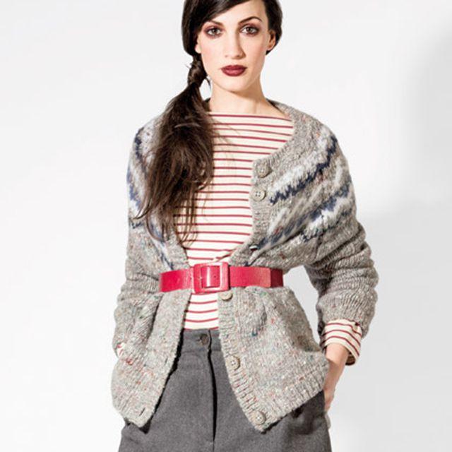 エリカ カヴァリーニ セミクチュール (ERIKA CAVALLINI semi-couture) ローゲージカーディガン アルパカウール混合 マルチミックス 14ee01482197 ニット,柄, 送料無料 【正規取扱】