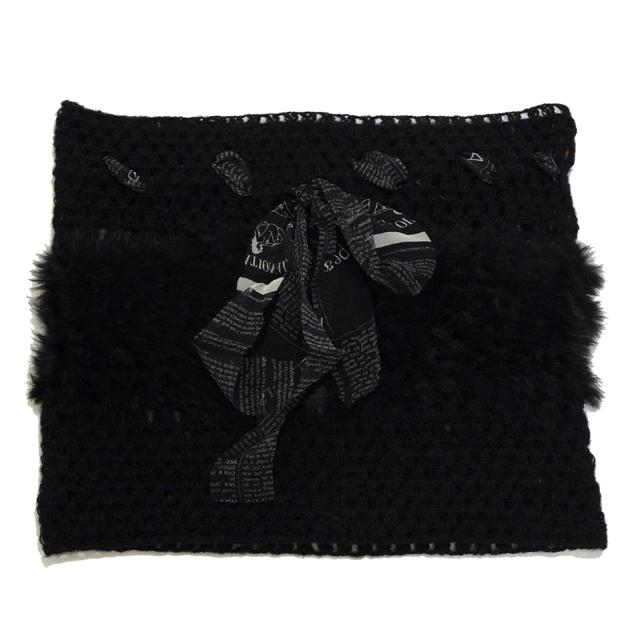 ジョンガリアーノ (John Galliano) ニットストール ブラック 10,800円以上購入で送料無料 【正規取扱】