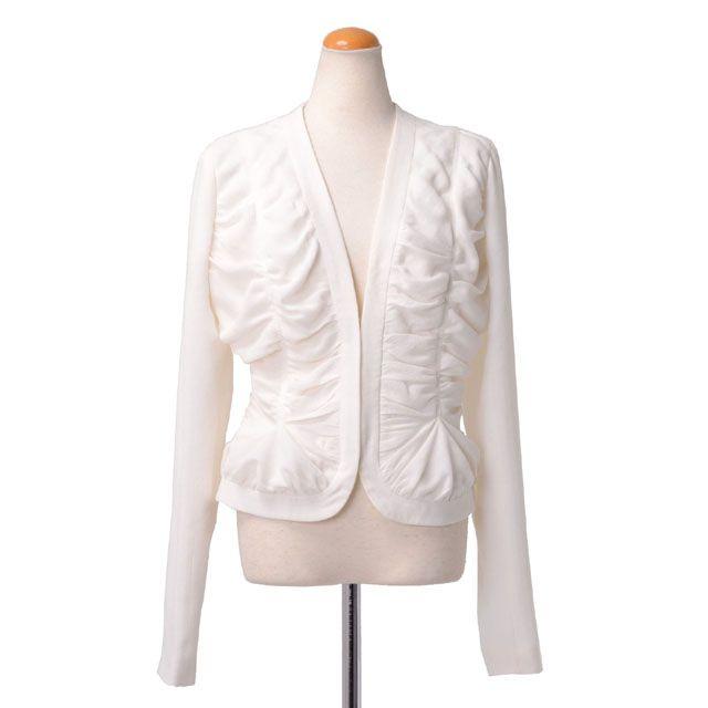 ジョンガリアーノ (John Galliano) シャーリングジャケット ホワイト ady005aay4330 10,800円以上購入で送料無料 【正規取扱】