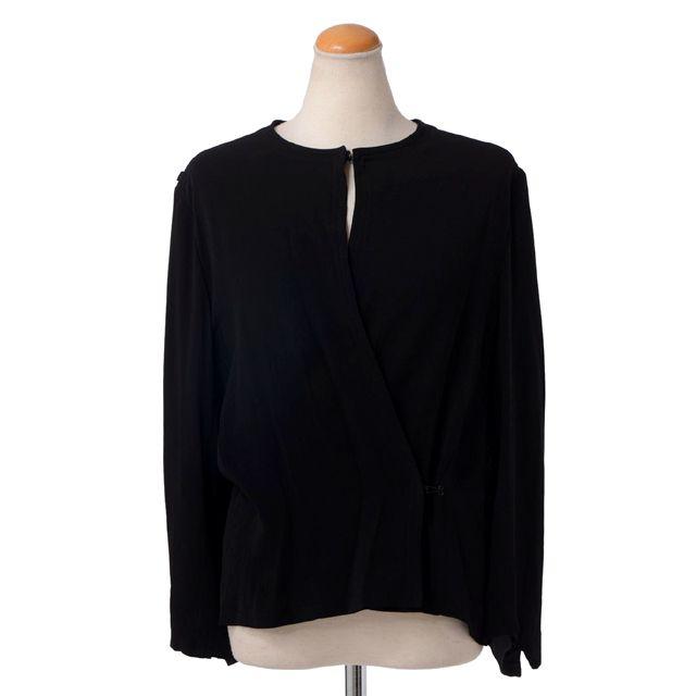 アンドゥムルメステール (ann demeulemeester) ノーカラーブラウスジャケット ブラック 431022013 送料無料 【正規取扱】
