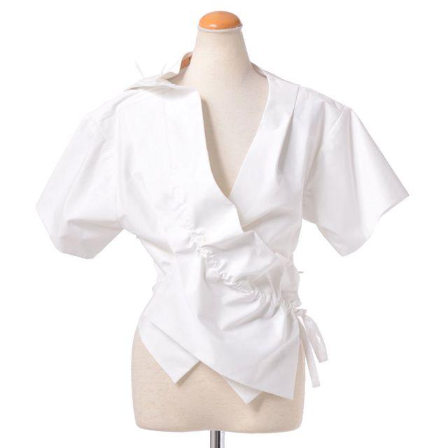 ジョンガリアーノ (John Galliano) コットンシャツジャケット ホワイト jg306a133 白, 送料無料 【正規取扱】