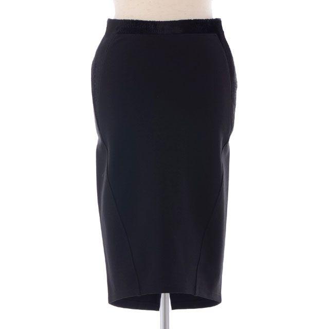 アーメン (AMEN) ジャージーベロアタイトスカート ブラック amw12307-9 10,800円以上購入で送料無料 【正規取扱】