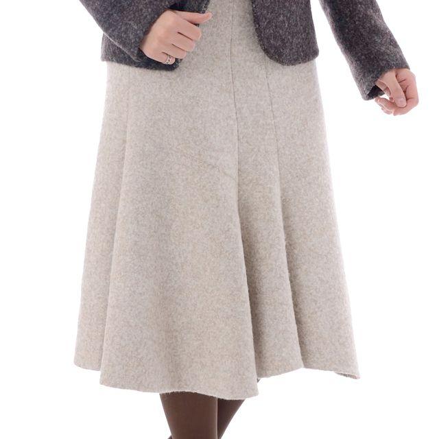 ヨシフナバシ (yoshi funabashi) イプシロン フレアアルパカロングスカート ベージュ d122-800-88r-b 10,800円以上購入で送料無料 【正規取扱】