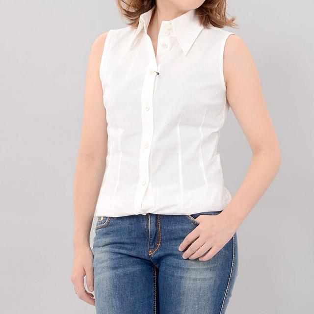 スタジオヨコ (Studio yoCo) ノースリーブシャツ ホワイト b01-64800-w レディース 10,800円以上購入で送料無料 【正規取扱】