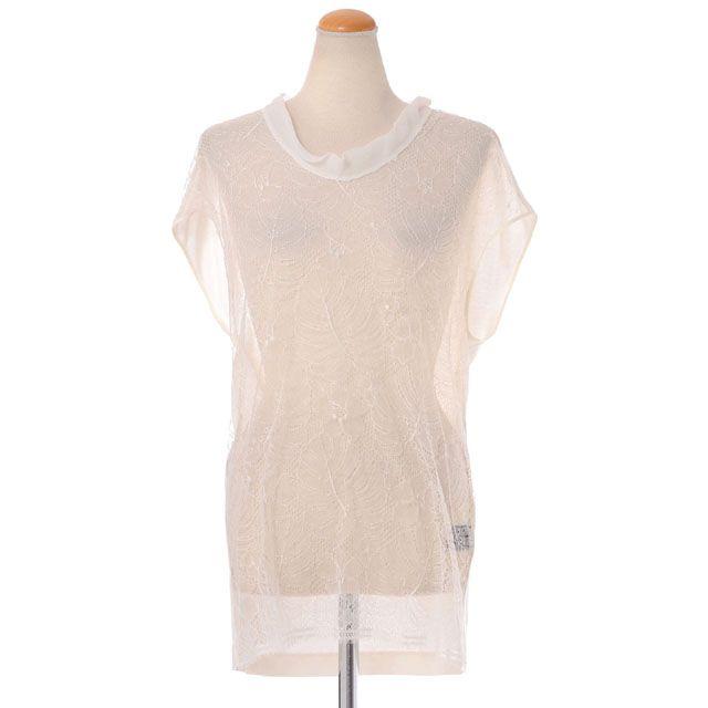 シャロンワコブ (sharon wauchob) レースTシャツ アイボリー 9sc12mod 送料無料 【正規取扱】