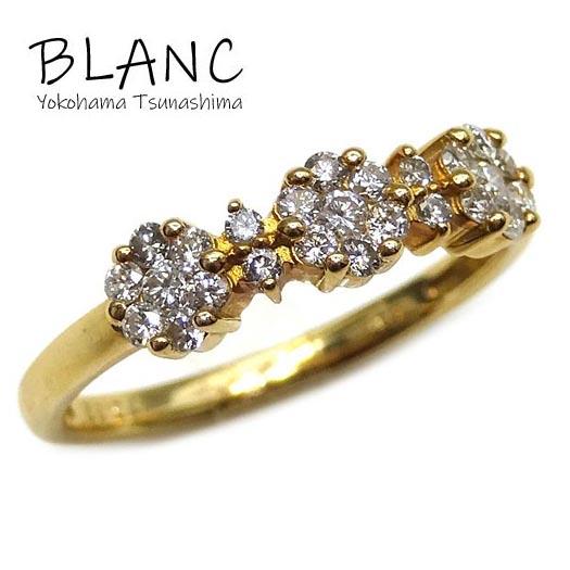 【中古】ダイヤモンドリング K18イエローゴールド ダイヤ 0.32ct 指輪 約11号 レディース 横浜BLANC