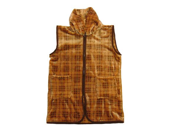 再販ご予約限定送料無料 紳士襟付きロングベスト ルームウェア 安心の定価販売