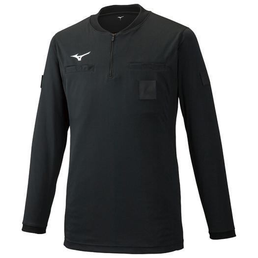 ミズノ レフリーシャツ(長袖)(サッカー)[ユニセックス] 09&nbspブラック(p2ma9a0209)