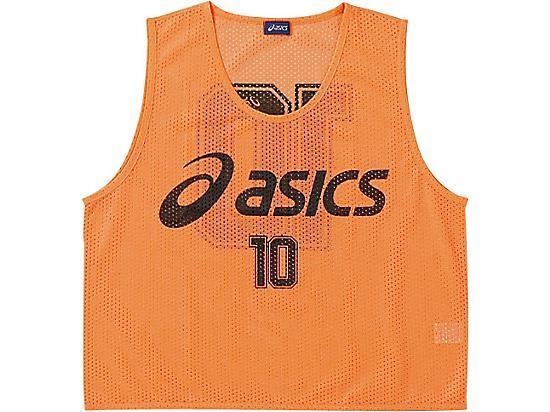 アシックス ビブス(10枚セット) 21 フラッシュオレンジ(xsg060-21)