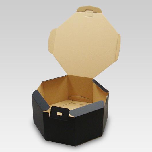 オクタボックス【八角形の帽子箱】(No.01)【黒】【内円の直径:325MM×高さ:153MM】 20枚セット 【ハットボックス 帽子 収納 箱 帽子箱 ハット箱 八角形 箱 収納箱 クローゼット収納 帽子 ケース 収納 収納ボックス ハットケース おしゃれ】