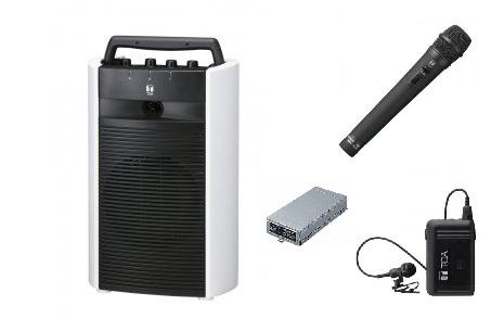 TOA ワイヤレスアンプ(CD付)+マイク2個(ハンド型/タイピン型)のセット商品「WA-2800CD+WM-1220+WM-1320+WTU-1820」 WA-2800CD-D