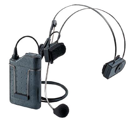 マイク位置を細かく調整可能。しっかりホールドする大きめのヘッドパッド。別売のWX-4451により充電式としても使用可能。 パナソニック 800MHz帯ヘッドセット型ワイヤレスマイクロホンWX-4360B