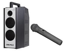ユニペックス 800MHz帯防滴形ハイパワーワイヤレスアンプ+防滴形ワイヤレスマイク(WA-872+WM-8400)WA-872-ASET