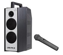ユニペックス 800MHz帯CD付防滴形ハイパワーワイヤレスアンプ+防滴形ワイヤレスマイク(WA-872CD+WM-8400)WA-872CD-BSET
