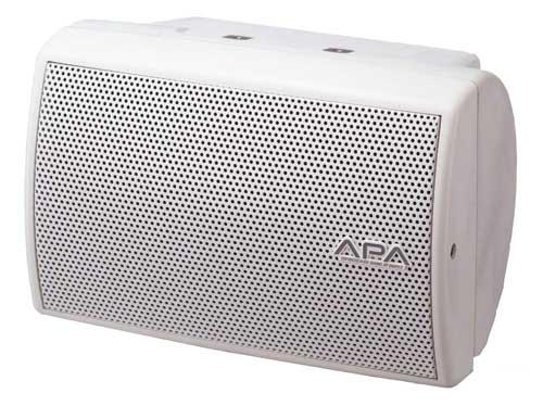 超コンパクトながら高耐入力・高能率を実現。 ユニペックス コンパクト2ウェイスピーカー(ホワイト)CRB-50W