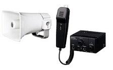 ユニペックス 12V仕様 車載システムセット(エコノミークラス)12V用10W車載アンプ(マイク付)+10Wコンビネーションスピーカー+スピーカー2本接続用コードギボシ付4m(NT-102A+CK-231/10+LS-404)NT-102A-C