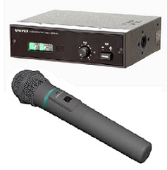 ユニペックス 車載システムワイヤレスオプションセット(車載用ワイヤレス受信機+防滴形ワイヤレスマイクロホン+車載用ワイヤレスアンテナ)(WM-3400+NDW-301+AA-3800B×2)NDW-301-OP