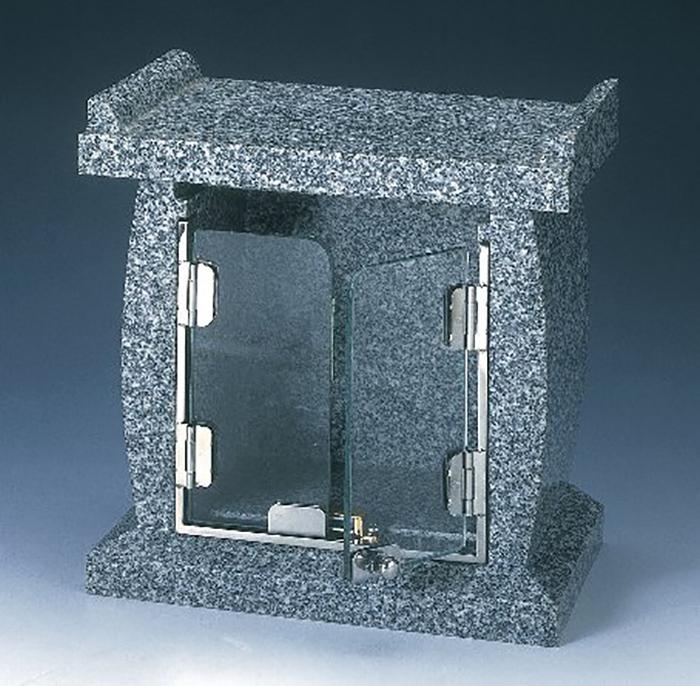 ナカムラ 墓前石台 ガラスの扉付 あすか お盆 お彼岸 送料無料
