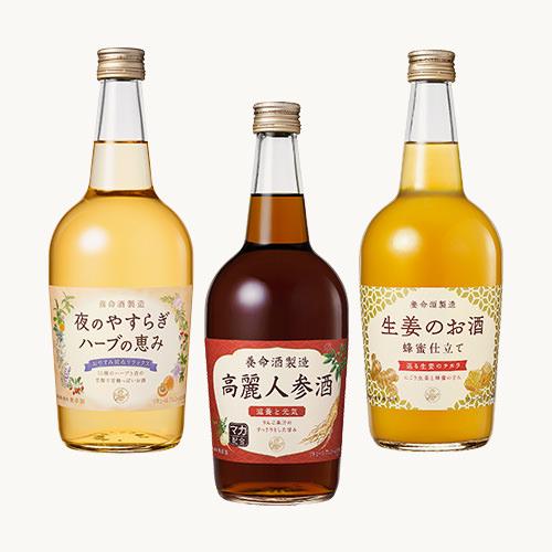 高額売筋 養命酒製造400年の技術から生まれた 本格ハーブのお酒シリーズ 公式 700ml×3本 養命酒製造ハーブのお酒3種セット 送料無料でお届けします