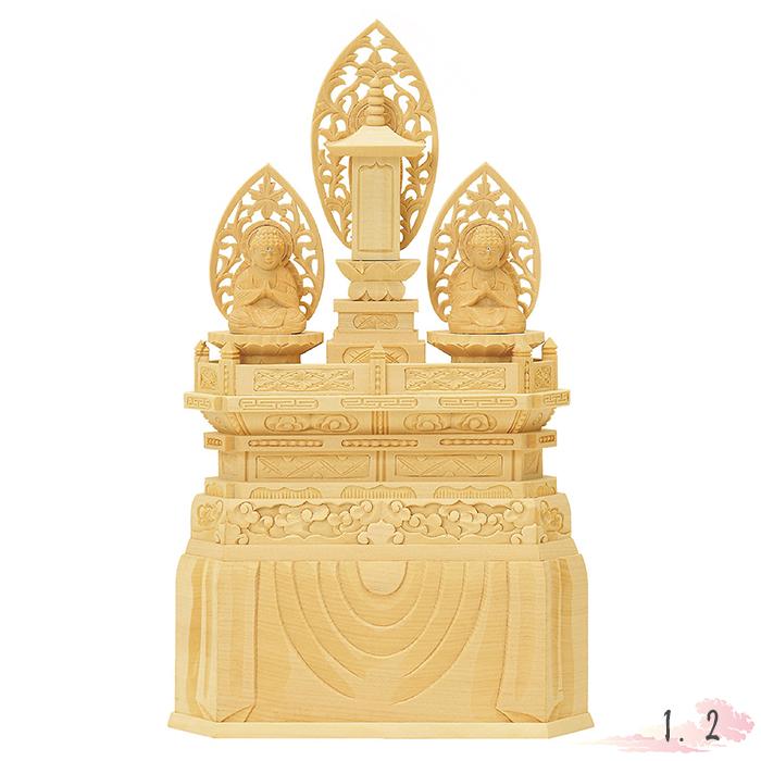 仏像 総白木 三宝尊 Buddhist 仏像 1.2寸 仏具 仏教 本尊 a 仏壇 Butsuzo a Buddhist image a statue of Buddha, ProShopスポテック:25729c50 --- citi-card.co.uk
