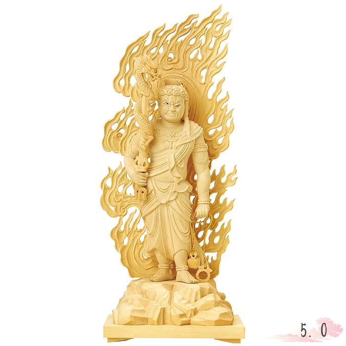 【返品交換不可】 仏像 本柘植 不動明王 眼入 a 上彫 5.0寸 仏像 仏具 仏教 本尊 本尊 仏壇 Butsuzo a Buddhist image a statue of Buddha, スタジオHiro:3f3ace27 --- greencard.progsite.com