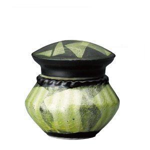 ミニ骨壺 lien リアン 天目銀彩イエロー 九谷焼 骨壺 分骨用 陶器