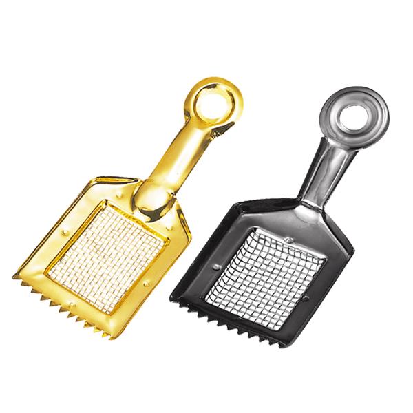 線香の燃え残りが取れる 正規品 灰ならし レターパックプラス対応可能 ゴールド 網付き灰ならし セットアップ メタリックシルバー