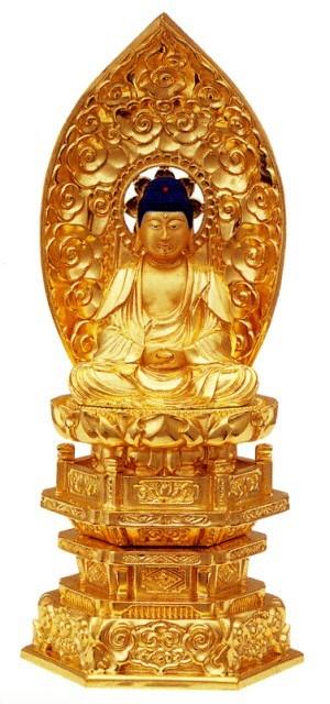 仏像 禅宗 釈迦如来 3.5寸中七肌粉