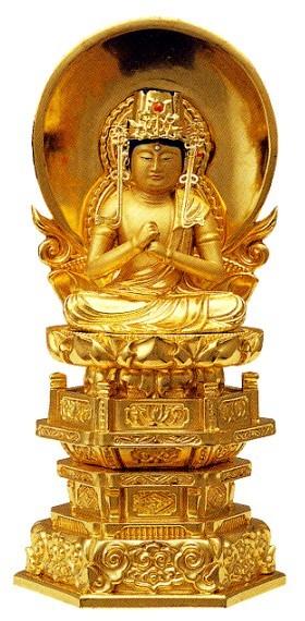 仏像 真言宗 大日如来 2寸中七肌粉