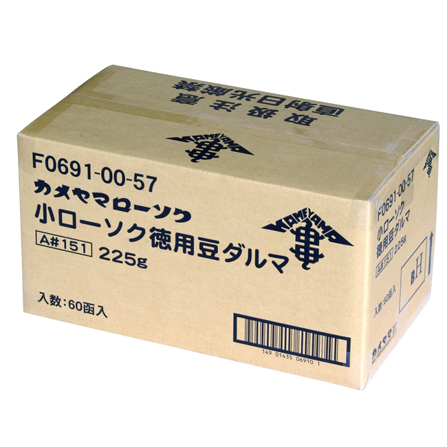 【送料無料】【10%OFF】カメヤマ小ローソク徳用豆ダルマ A#151ろうそく 1ケース60箱7560本入り