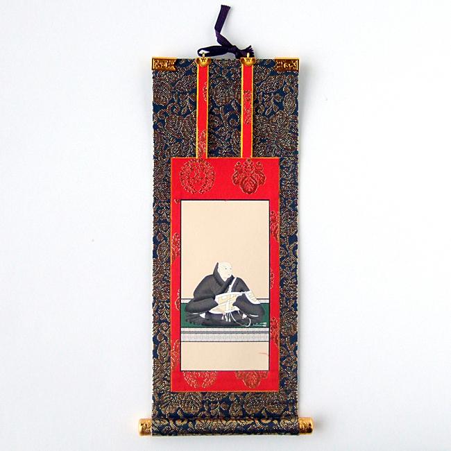 【掛軸】浄土真宗本願寺派 左脇掛 蓮如上人 100代(長さ44cm)