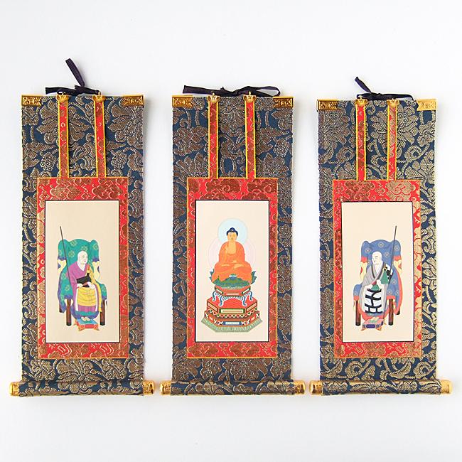 【送料無料】【掛軸】曹洞宗(禅宗) 三幅セット 100代(長さ44cm)