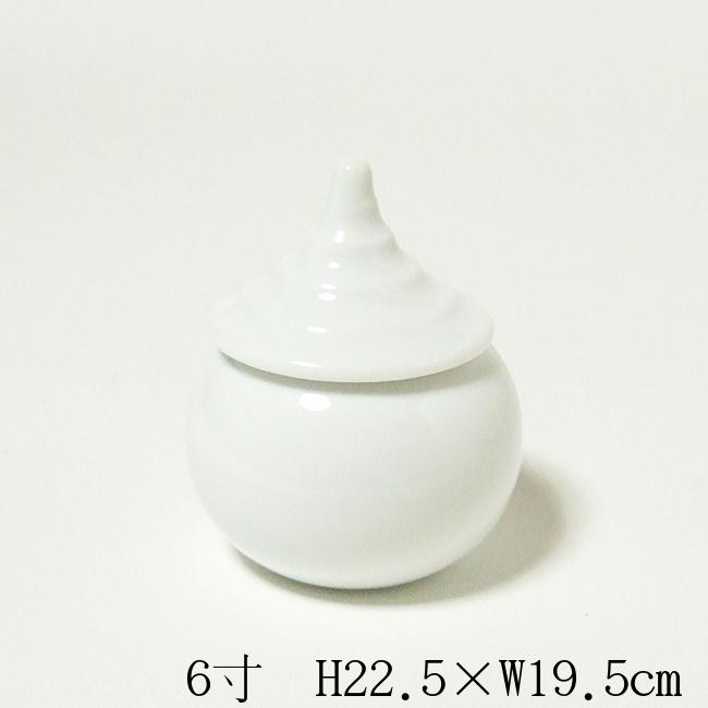 【送料無料】【神具】水玉(水器) 6寸(高さ22.5cm×幅19.5cm)