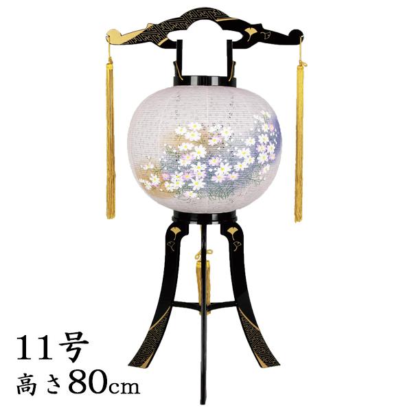 盆提灯 回転灯あかり11号綾型蒔絵・和紙張り【送料無料】