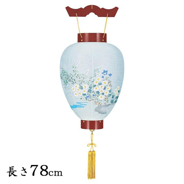 お盆 提灯 壺型(御所提灯)ワイン・和紙張り