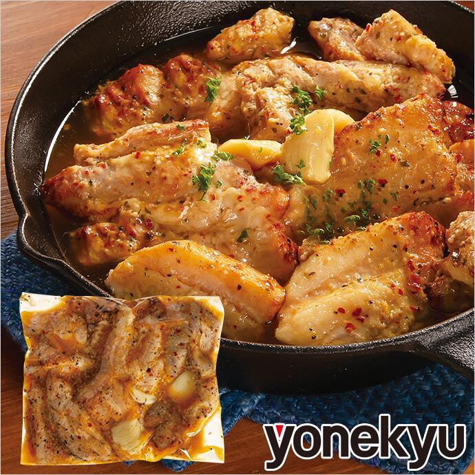 カットした豚ばら肉にスパイス&オリーブオイルのソースを加えて、真空調理でうま味を閉じ込め、やわらかく仕上げた アヒージョ 仕立ての骨なし スペアリブ 。丸ごとニンニク使用 アヒージョ仕立ての骨なしスペアリブ 肉 お肉 豚肉 ローストスペアリブ スペアリブ アヒージョ にんにく ニンニク ガーリック お取り寄せグルメ お取り寄せ グルメ ご飯のお供 ごはんのおとも お酒のお供 惣菜 おかず おつまみ 食べ物 ディナー オードブル