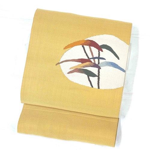 高い品質 からし色系太鼓柄八寸帯(袋なごや帯)(正絹), 作業服作業用品のダイリュウ:450f45cb --- oflander.com