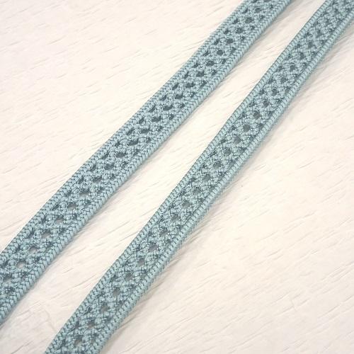 【夏向き】正絹長尺レース帯締め(水色・撚り房・日本製)