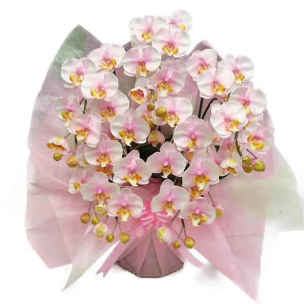 造花 光触媒 胡蝶蘭 ミディ Sサイズ 桜ピンク(絞りピンク) 5本立ち テーブルサイズ