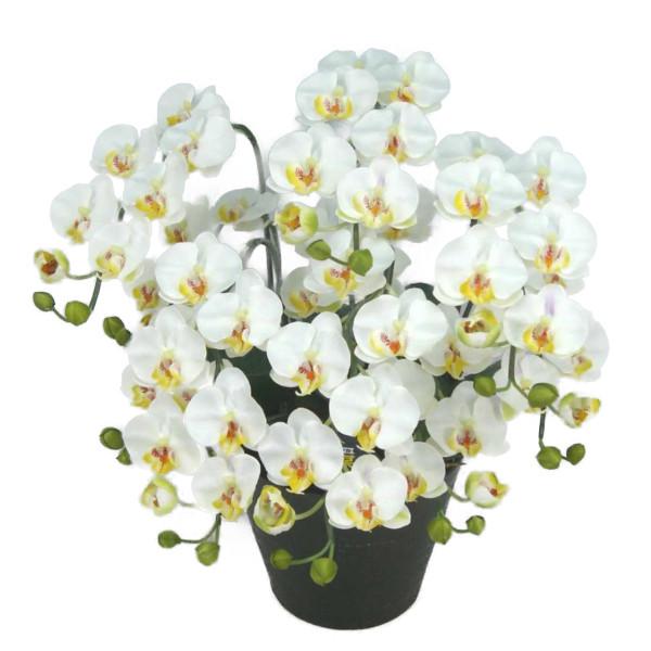 造花 光触媒 胡蝶蘭 ミディ Sサイズ 白 5本立ち テーブルサイズ