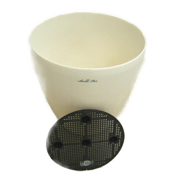 ラスターポット 白 370型 10.0号鉢用 1ケース6個入り