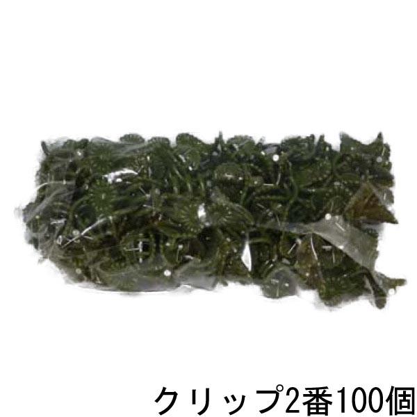 胡蝶蘭、洋らんに最適な茎止めクリップ 送料無料 胡蝶蘭、洋蘭用茎止めクリップ 菊型 2番 深緑色 100個入り 1袋