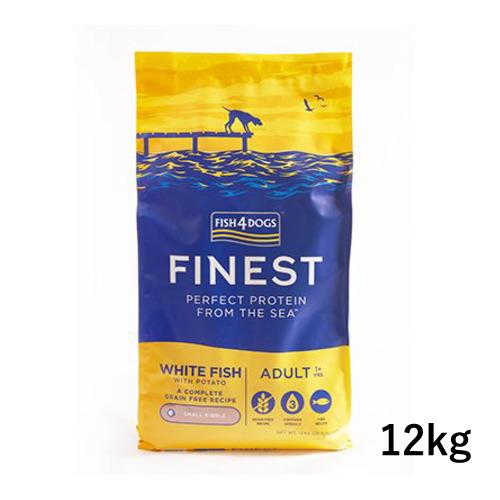 白身魚が主原料 お腹が弱い仔におすすめ フィッシュ4ドッグ 新品 ファイネスト 12kg オーシャンホワイトフィッシュ 日本産 ドッグフード