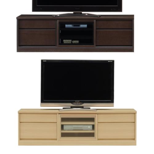 【6/4 20時~10%OFF】 薄型テレビボード スライス 150 ナチュラル色 ダーク色 家具のよろこび 【店頭受取対応商品】