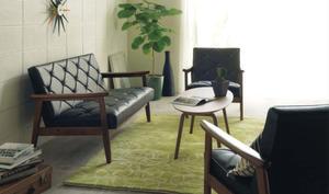 カリモク 合成皮革ソファー WS11 3点セット (1Px2 2P) 日本製 家具のよろこび 【店頭受取対応商品】