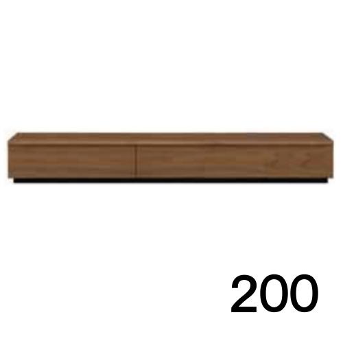 【6月上旬お届け】 テレビボードMV 200 ウォールナット色 家具のよろこび 【店頭受取対応商品】